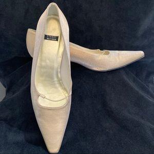 Stuart Weitzman Vintage Gold Sparkle Low Heels